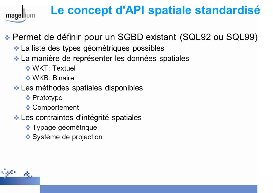Le concept d API spatiale standardisé
