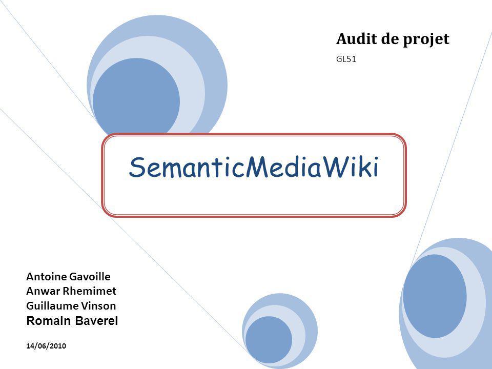 SemanticMediaWiki Audit de projet Antoine Gavoille Anwar Rhemimet