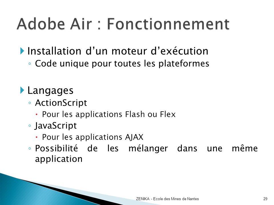 Installation d'un moteur d'exécution