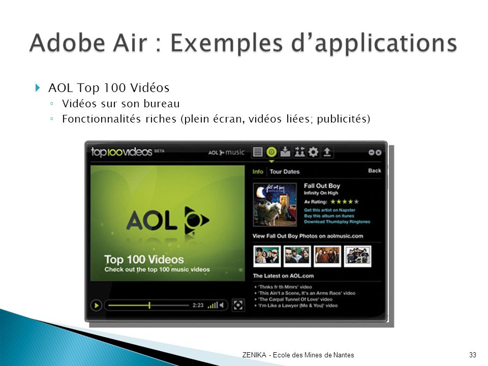 AOL Top 100 Vidéos Vidéos sur son bureau