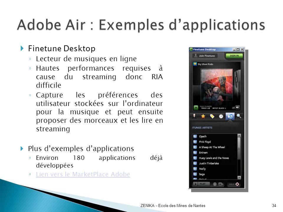 Finetune Desktop Lecteur de musiques en ligne