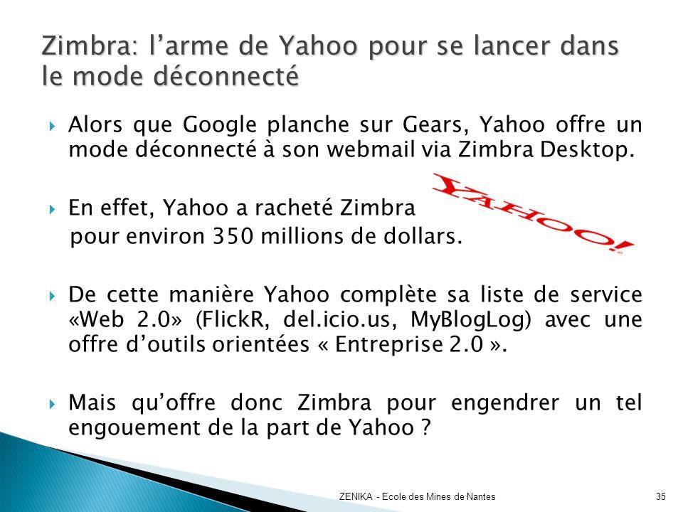 Zimbra: l'arme de Yahoo pour se lancer dans le mode déconnecté
