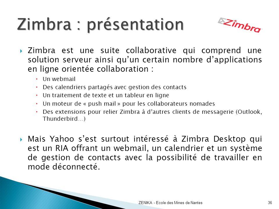 Zimbra : présentation