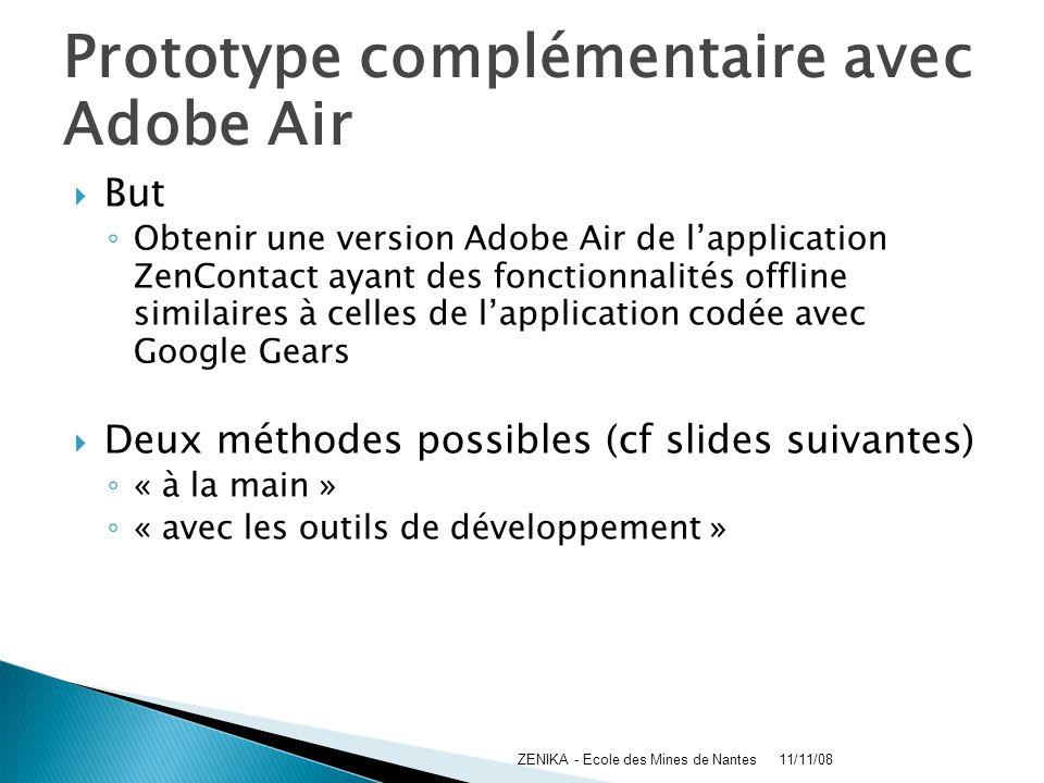 Prototype complémentaire avec Adobe Air