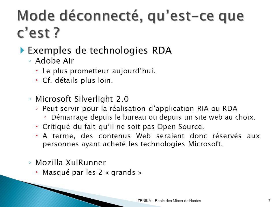 Exemples de technologies RDA