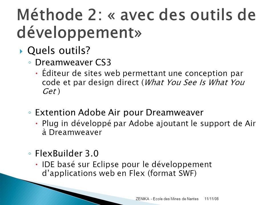Méthode 2: « avec des outils de développement»