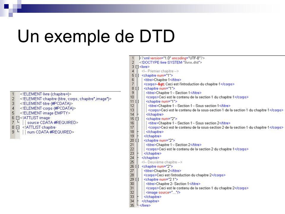 Un exemple de DTD