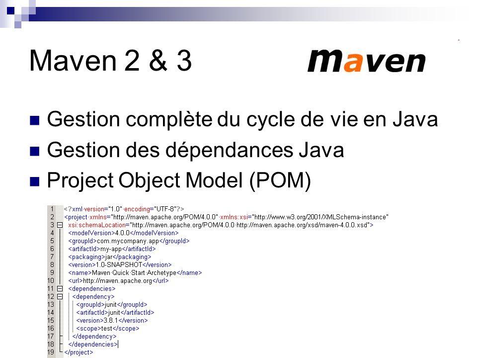 Maven 2 & 3 Gestion complète du cycle de vie en Java