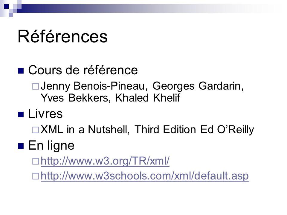 Références Cours de référence Livres En ligne