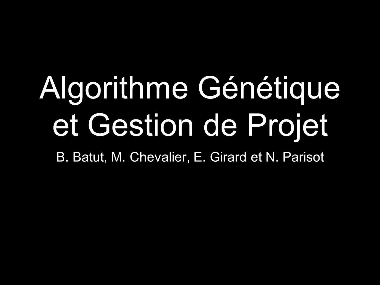 Algorithme Génétique et Gestion de Projet