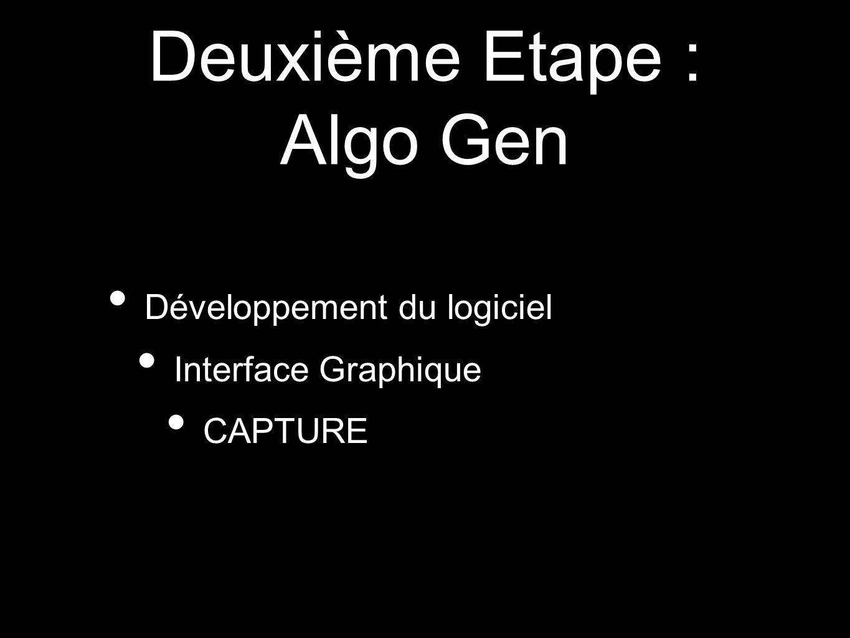 Deuxième Etape : Algo Gen