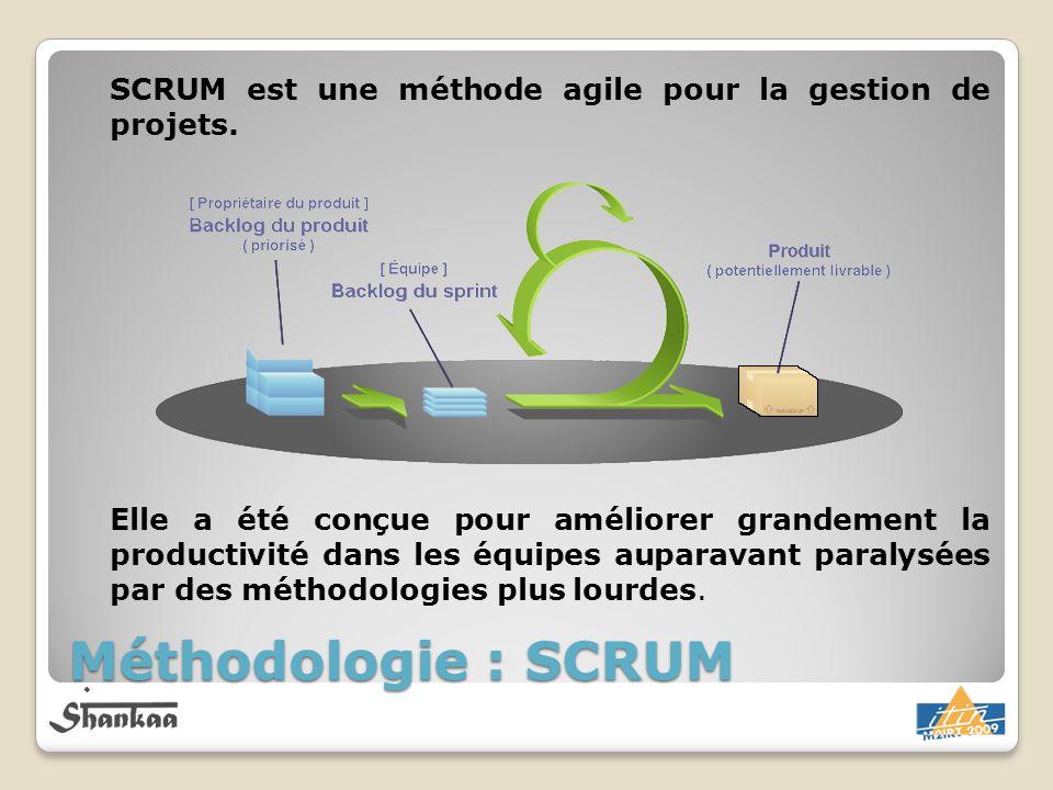 SCRUM est une méthode agile pour la gestion de projets.