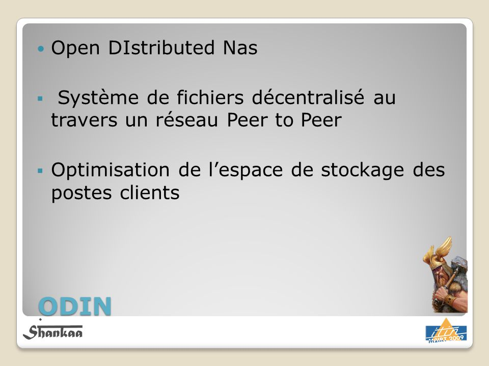 ODIN Open DIstributed Nas