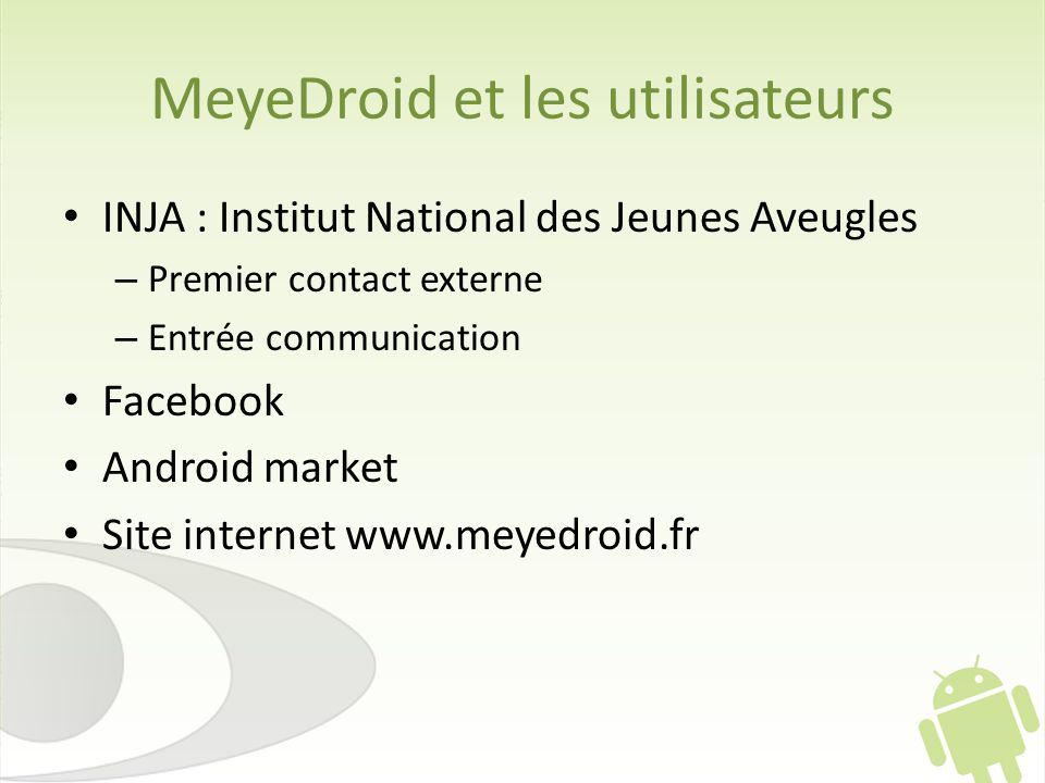 MeyeDroid et les utilisateurs