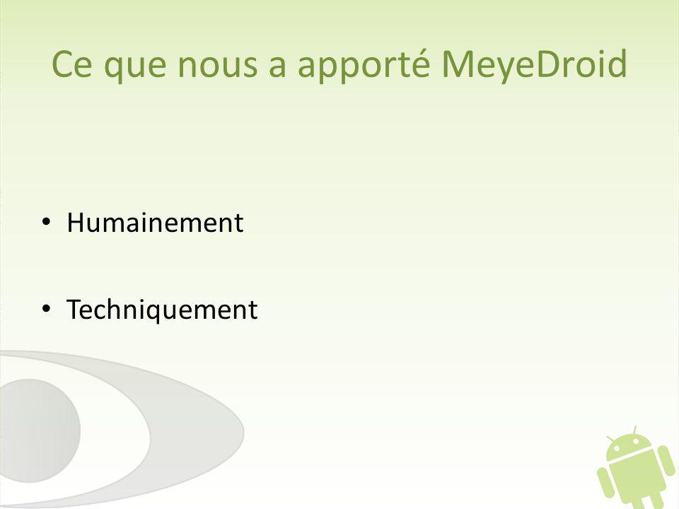Ce que nous a apporté MeyeDroid
