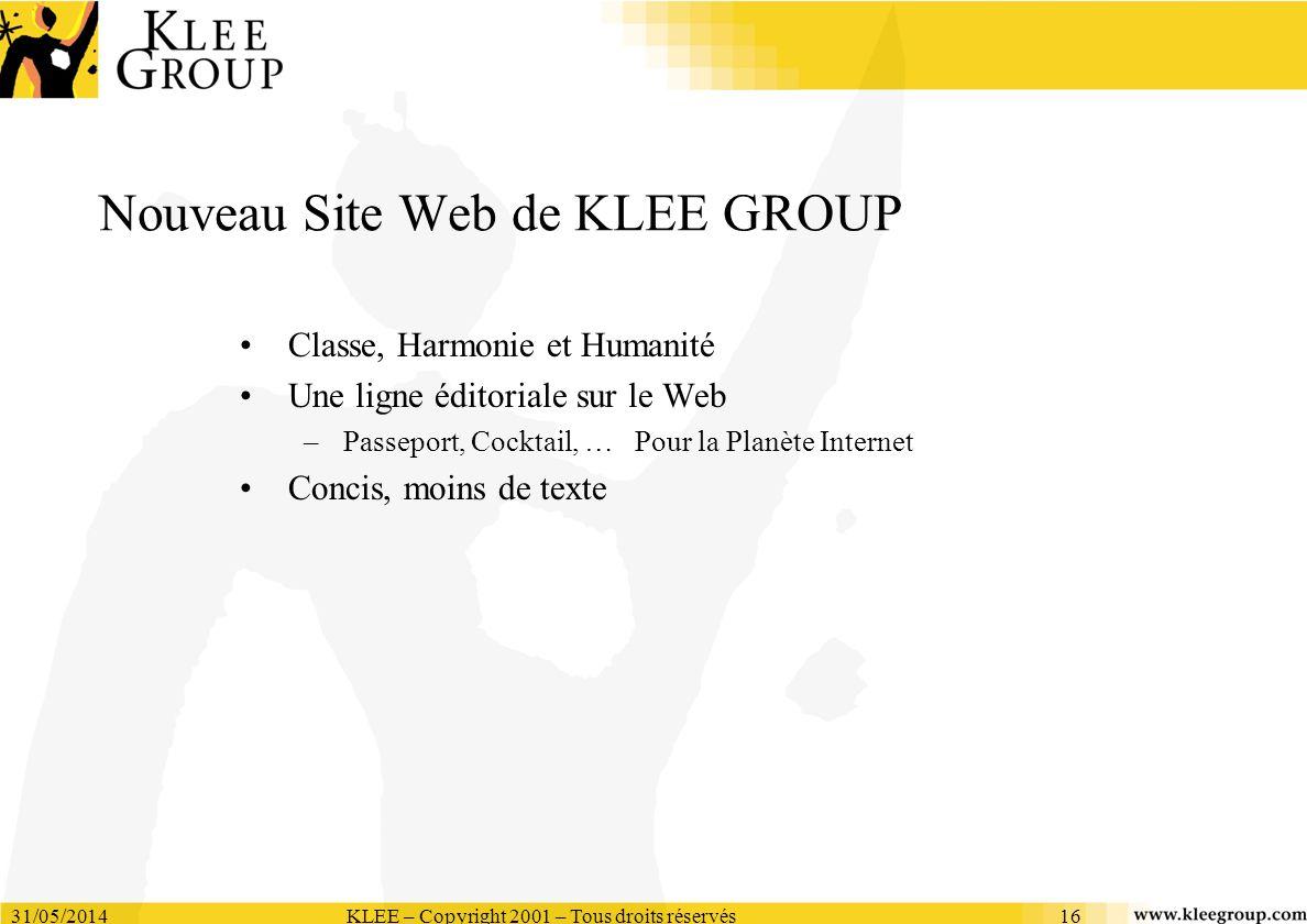 Nouveau Site Web de KLEE GROUP