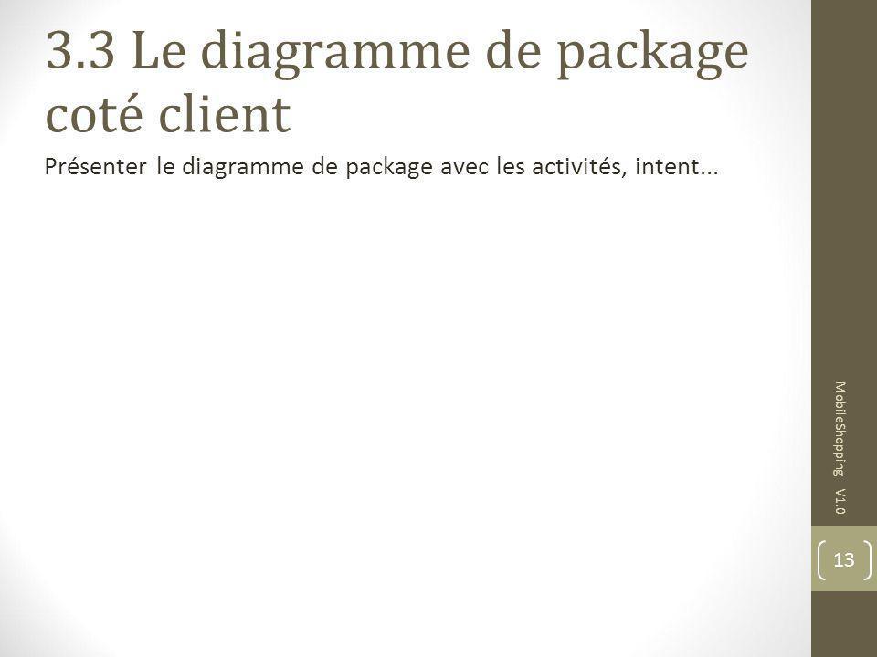 3.3 Le diagramme de package coté client