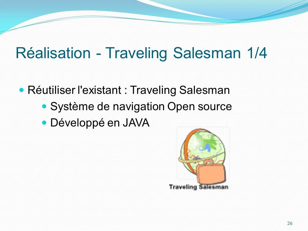 Réalisation - Traveling Salesman 1/4