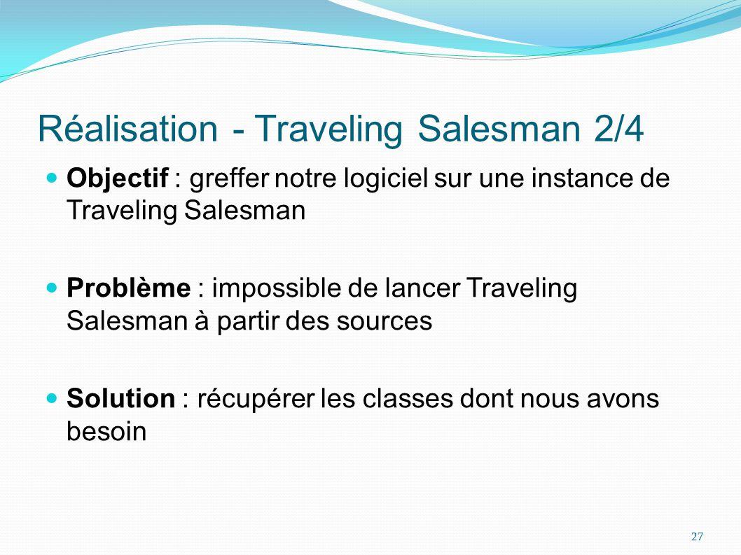 Réalisation - Traveling Salesman 2/4