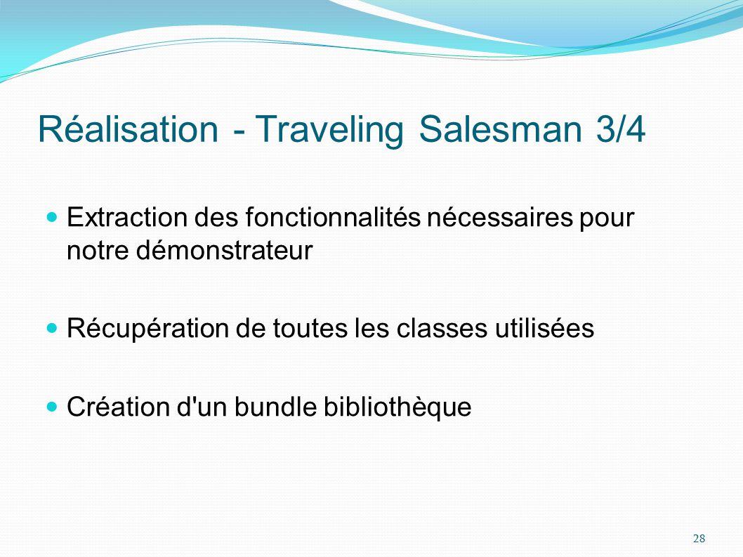 Réalisation - Traveling Salesman 3/4