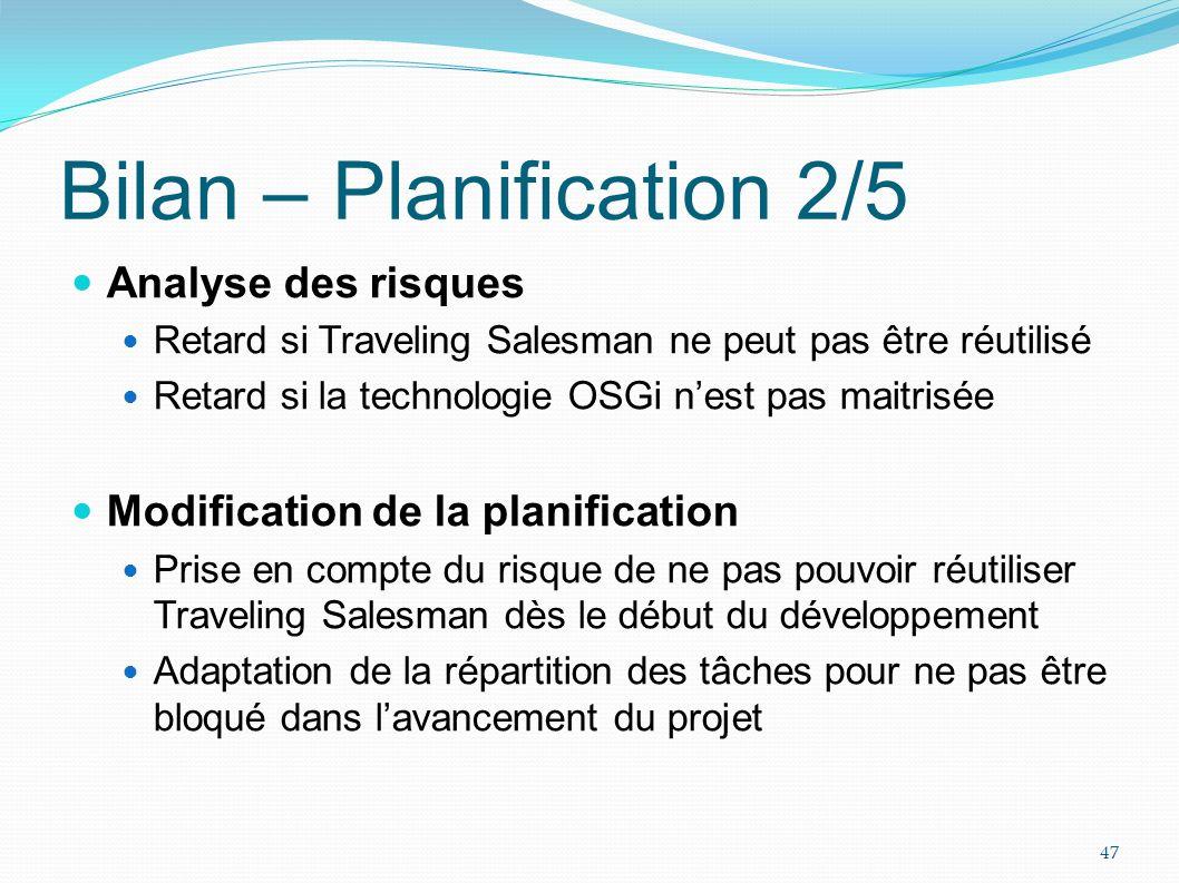 Bilan – Planification 2/5