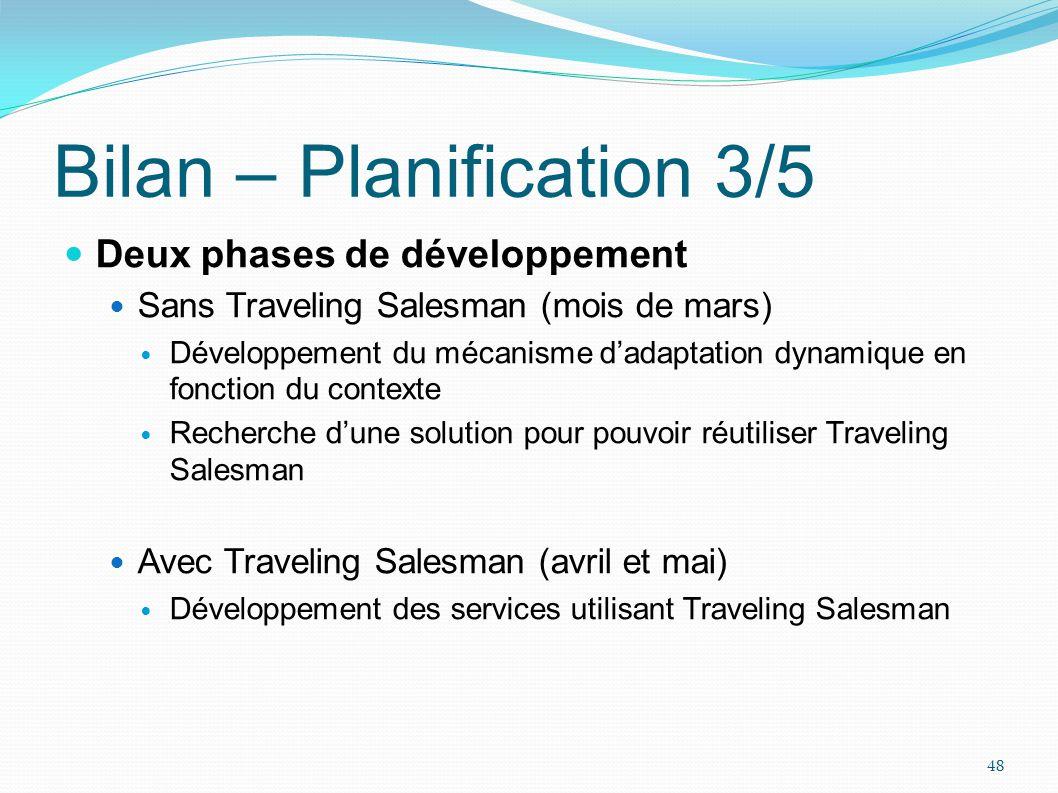 Bilan – Planification 3/5