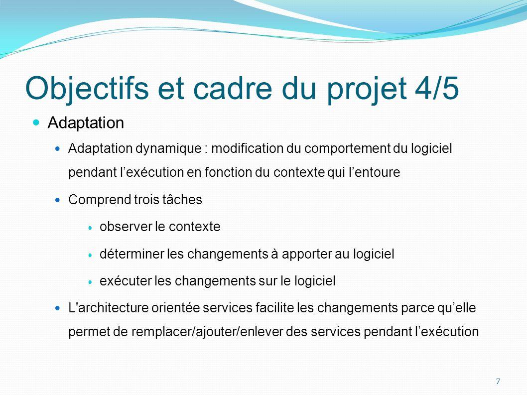 Objectifs et cadre du projet 4/5