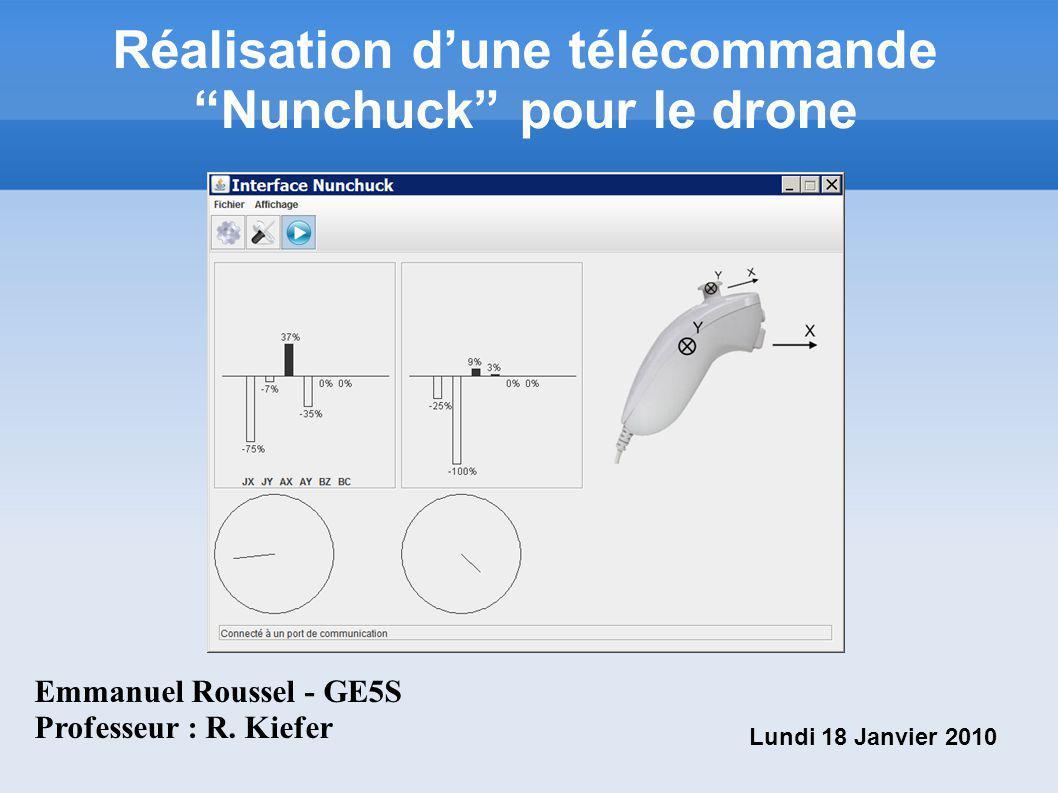 Réalisation d'une télécommande Nunchuck pour le drone
