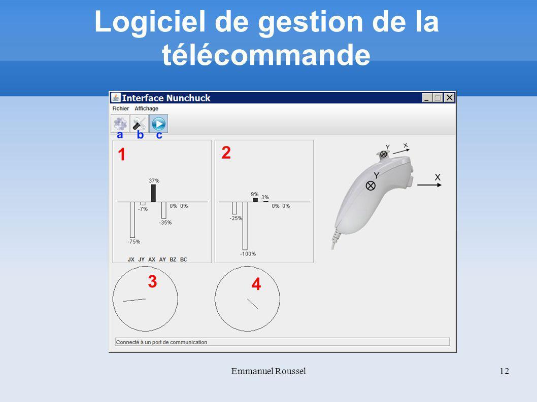 Logiciel de gestion de la télécommande