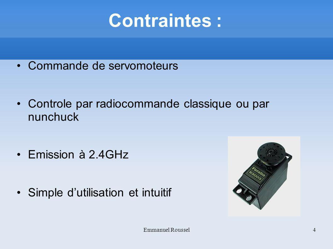 Contraintes : Commande de servomoteurs