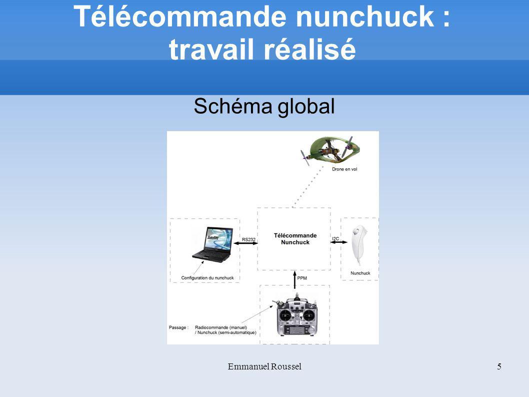 Télécommande nunchuck : travail réalisé