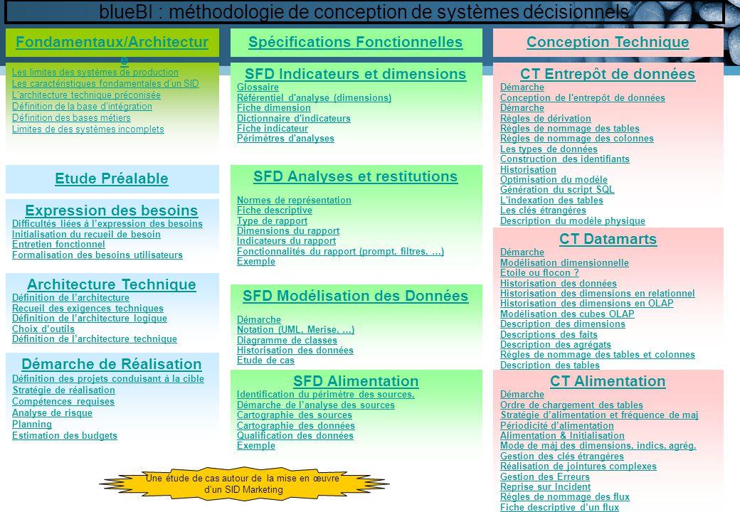 blueBI : méthodologie de conception de systèmes décisionnels