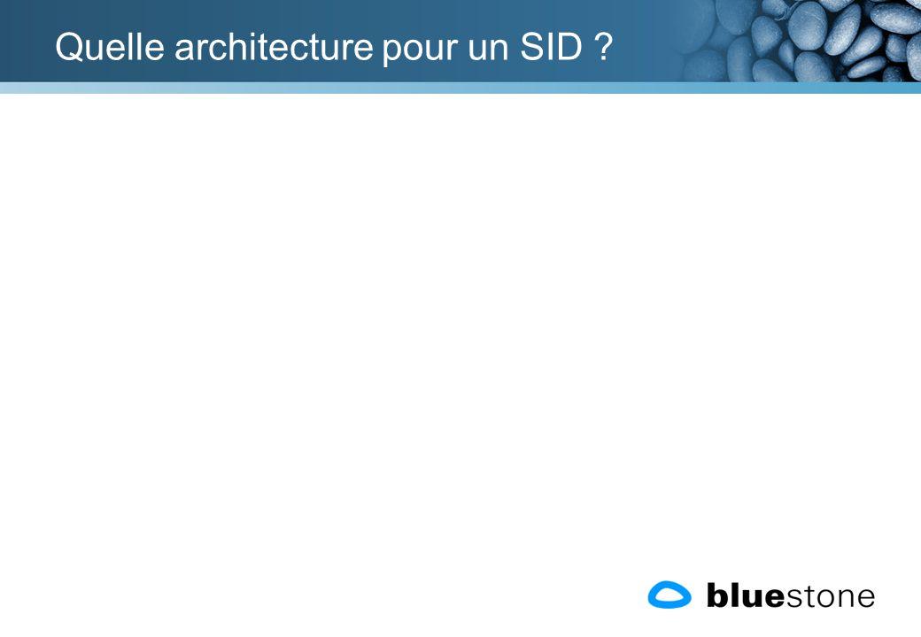 Quelle architecture pour un SID
