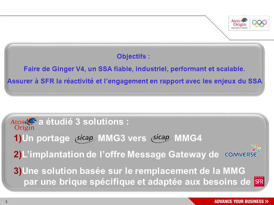 Faire de Ginger V4, un SSA fiable, industriel, performant et scalable.