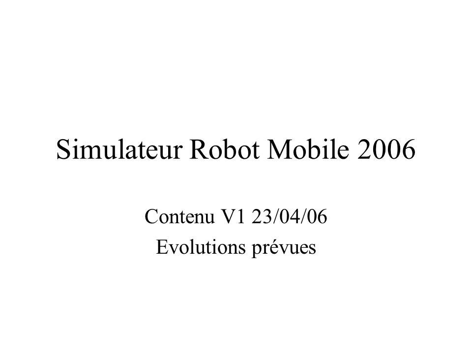 Simulateur Robot Mobile 2006