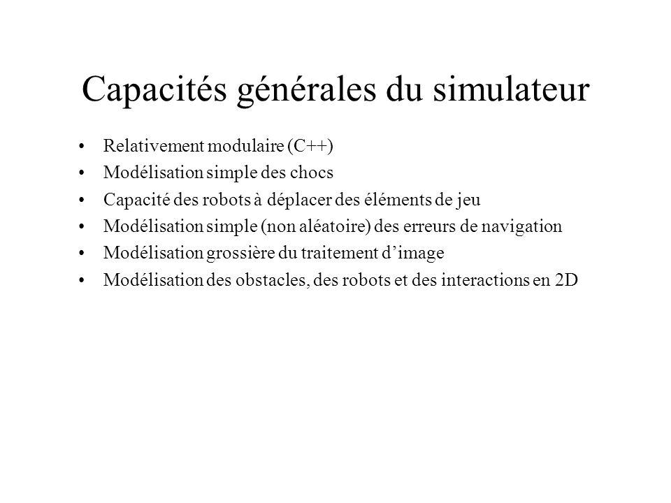 Capacités générales du simulateur