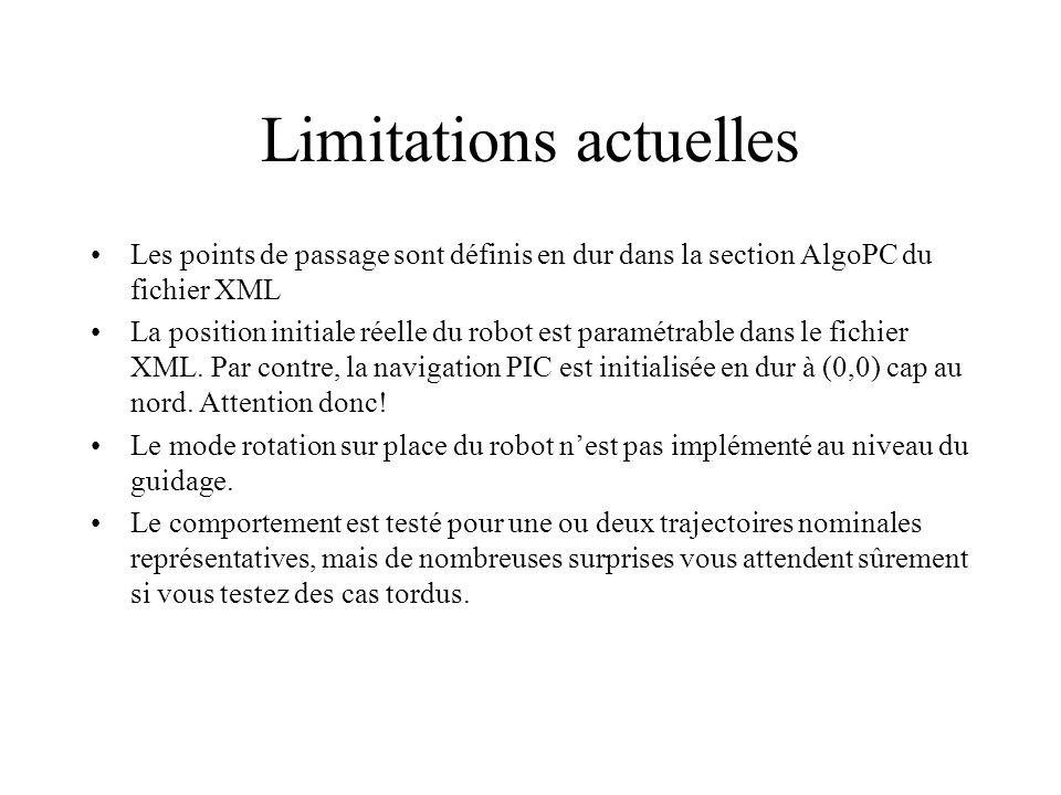 Limitations actuelles