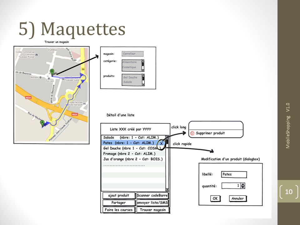 5) Maquettes MobileShopping V1.0 10 10