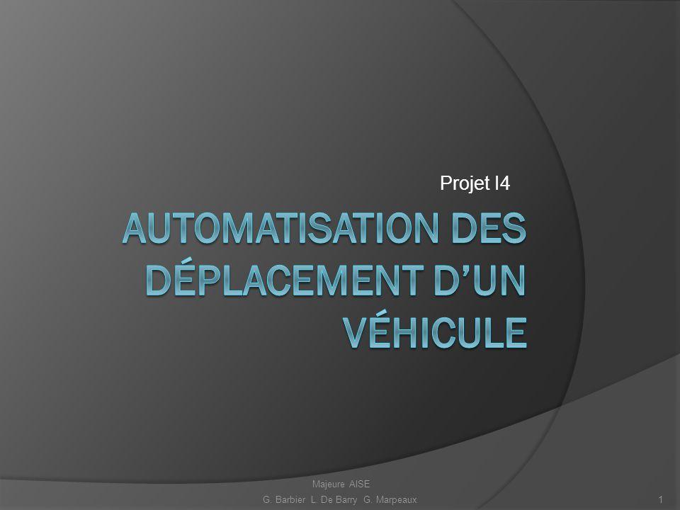 Automatisation des déplacement d'un véhicule