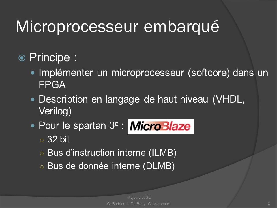 Microprocesseur embarqué