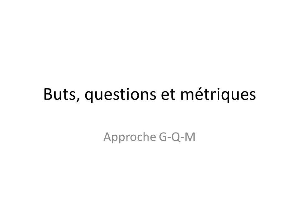Buts, questions et métriques