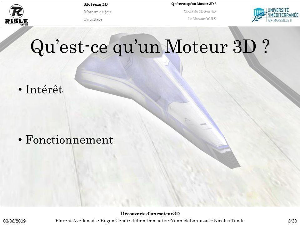 Qu'est-ce qu'un Moteur 3D
