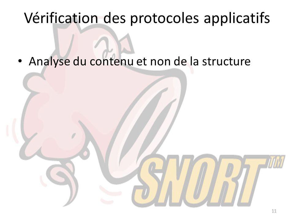 Vérification des protocoles applicatifs