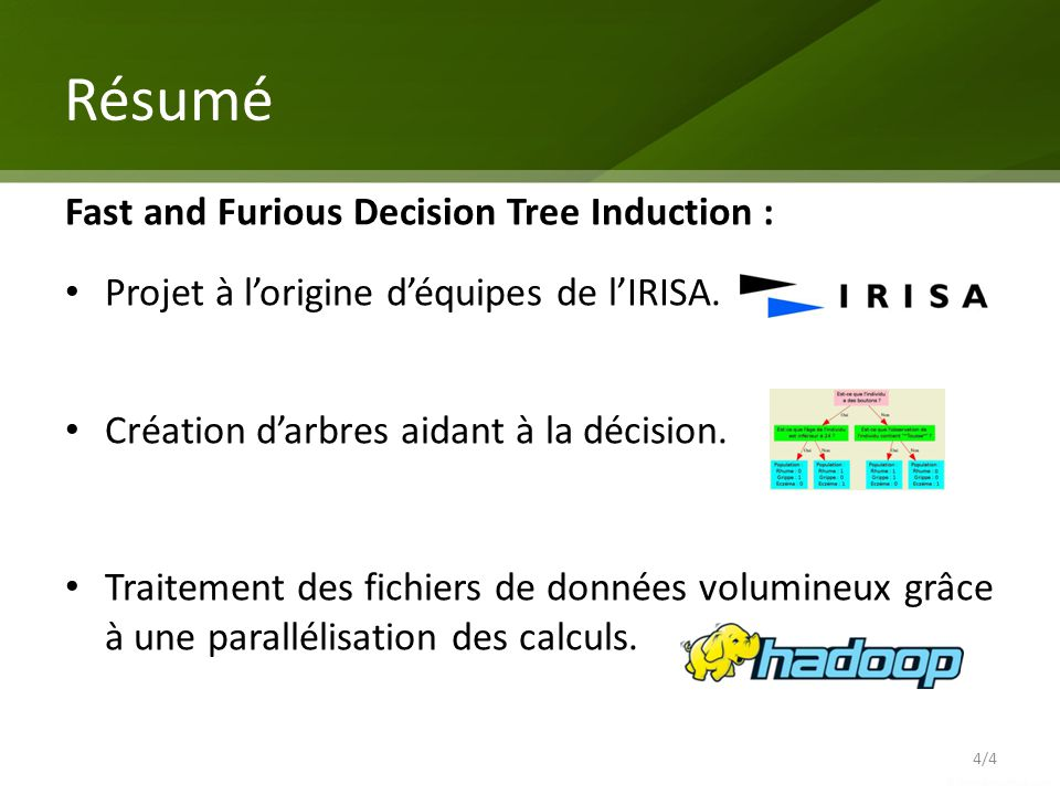 Résumé Fast and Furious Decision Tree Induction :
