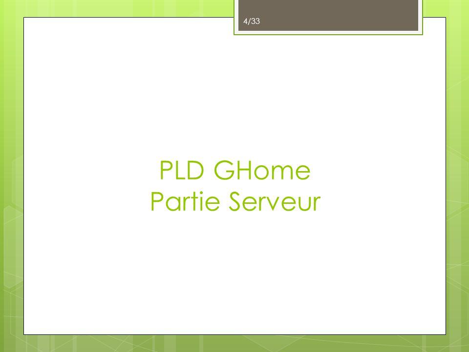 PLD GHome Partie Serveur