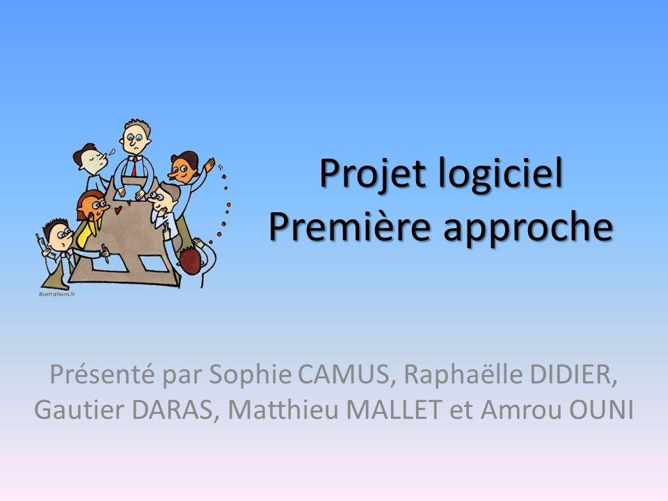 Projet logiciel Première approche