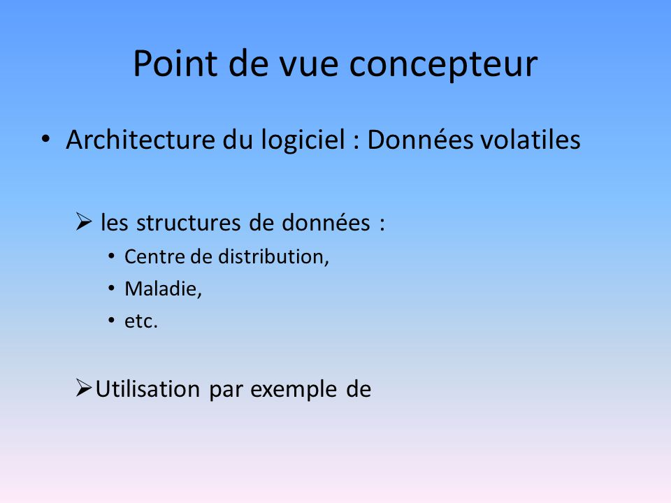 Point de vue concepteur