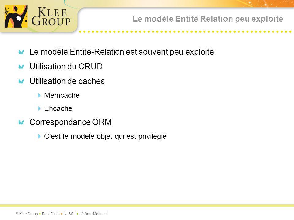 Le modèle Entité Relation peu exploité