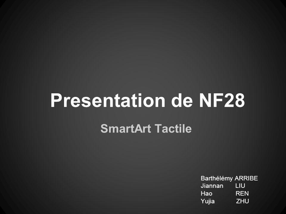 Presentation de NF28 SmartArt Tactile Barthélémy ARRIBE Jiannan LIU