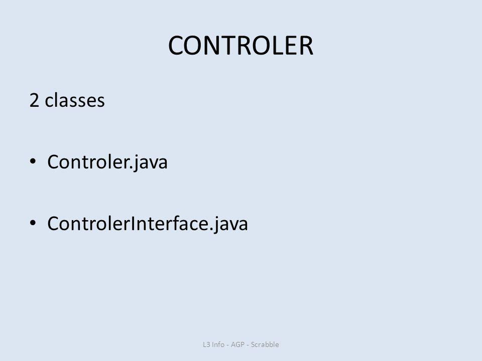 CONTROLER 2 classes Controler.java ControlerInterface.java